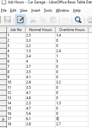 48 Calculated Table