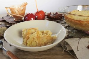 Toffee Apple Crumble; gluten free and dairy free