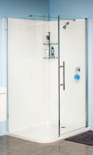 Eclipse shower Door acrylic walls