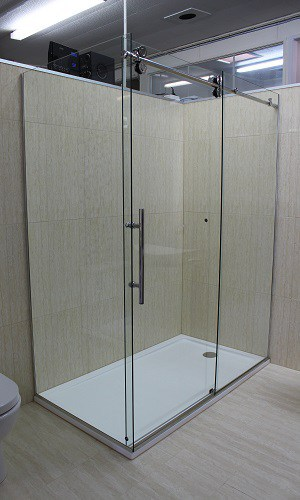 Glass Shower Door Dreamline Tiled walls