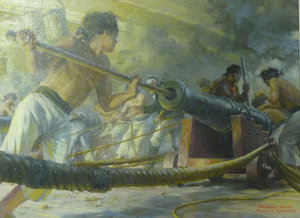 image of a painting titled Second Salvo by Robert Sticker