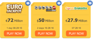 lottery sites offering various games