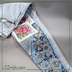 free painted blue jeans patterns