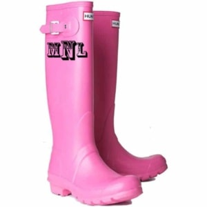 Monogrammed Pink Rain Boots for Kids. 15+ Rain Boots for Kids. Spring rain boots for kids. Bright colored rain boots for kids. www.madewithhappy.com