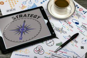Strategieentwicklung mit Konzepten und Kaffee