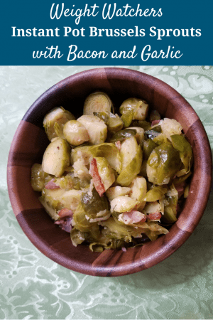 Instant Pot Brussels Sprouts with Bacon and Garlic are the perfect side dish for any meal! Make these in just a few minutes!