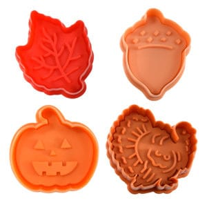 AUTUMN PASTRY & COOKIE STAMPERS SET /4