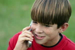 boy talking on cell