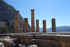 Grundpfeiler eines alten Tempels