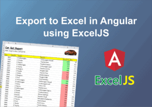 Export to Excel in Angular 8