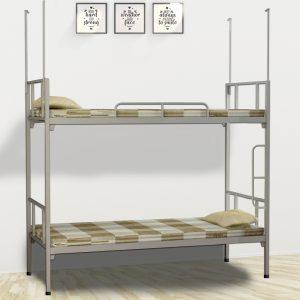 Giường sắt 2 tầng homestaty sinh viên màu đen