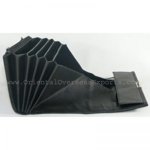 design and buy custom embossed leather waiters purse with multiple currency slots online