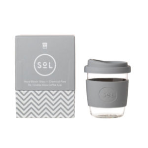 SoL Cup Glaskaffeebecher 8oz - Cool Grey