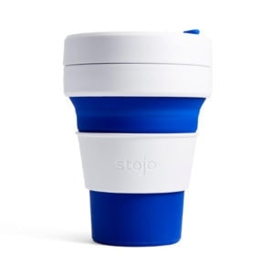 stojo Pocket Cup - der faltbare Coffee to go Becher (12oz) blau