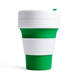 stojo Pocket Cup - der faltbare Coffee to go Becher (12oz) grün
