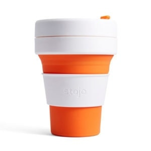stojo Pocket Cup - der faltbare Coffee to go Becher (12oz) orange