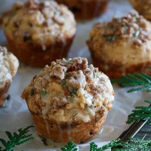 Greek Yogurt Christmas Morning Muffins