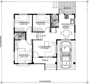 SMALL HOUSE FLOORING PLANS WITH GARAGE AND 3 BEDROOM