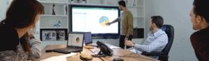 le partage d'écran pour les réunions à distance