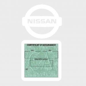 NISSAN pochette étui assurance voiture moins 4 Ans vert clair