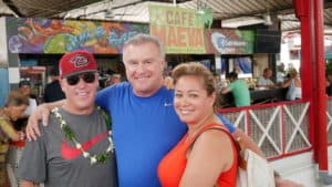 Jack Cole Jeanette Cole and Steve in Tahiti fresh market