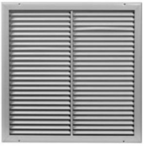 "12"" X 12"" White Slotted Ceiling Grille"