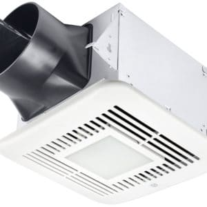 Delta BreezElite Motion and Humidity Sensor Bath Fan With LED Ceiling Mounted Exhaust Main Image