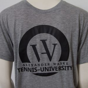 Logo-Shirt in Grau - Vorderseite | Tennis-University