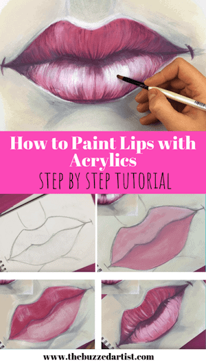 Paint A Realistic Lips And Mouth With Acrylic