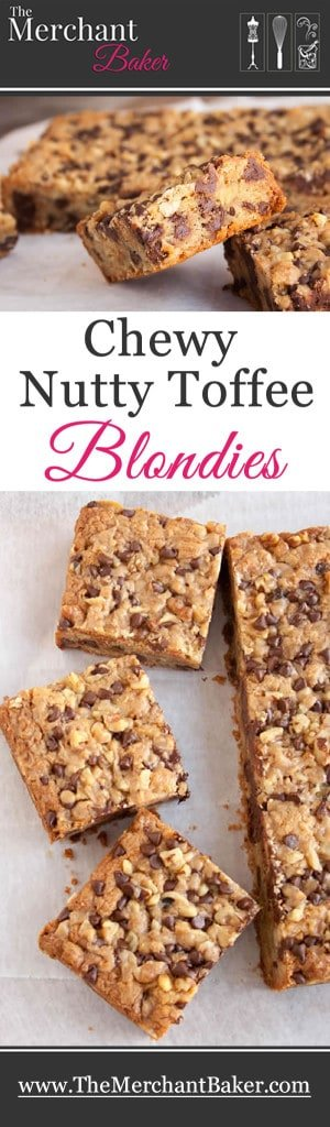 Chewy Nutty Toffee Blondies
