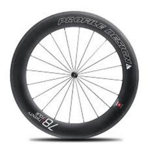 Zapletené kolo přední Profile Design Wheel 78 Twenty Four Full Carbon Tubular