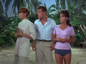 Ginger, the Professor, and Mary Ann from Gilligan's Island