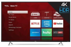 TLC 55 inch UHD TV with Roku 379. - Best Value, Best Rated, Best Seller