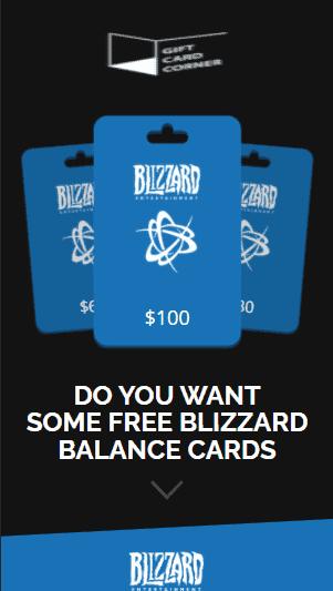 Blizzard Gift Card Generator.