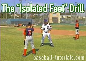 throwing drill isolated feet