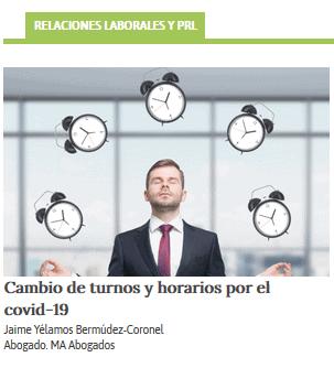 CAMBIOS DE TURNOS Y HORARIOS POR EL COVID-19.