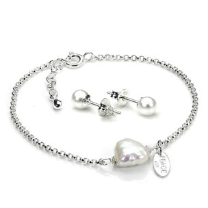 Sterling Silver Pearl Accessories Set