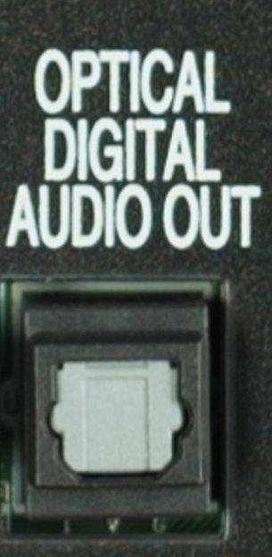 Conexión de audio optico en TV