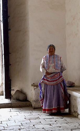ペルーのマカ村のおばちゃん