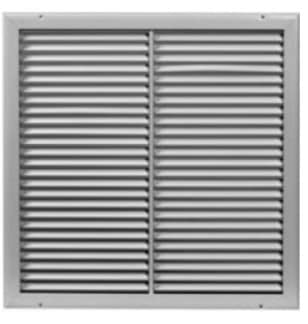 """12"""" X 12"""" White Slotted Ceiling Grille"""