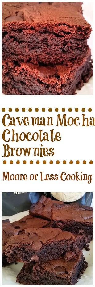 Caveman Mocha Chocolate Brownies