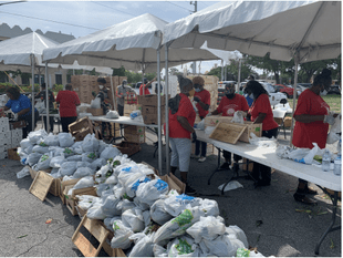 City of Opa-locka and Feeding South Florida Host Drive-Thru Food Distribution