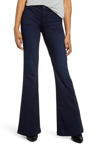 Paige high waist flare jeans | 40plusstyle.com