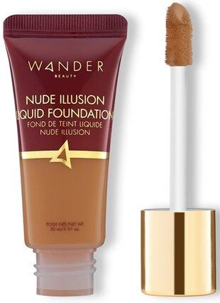 Best foundation for mature skin - Wander Beauty Nude Illusion Liquid Foundation | 40plusstyle.com