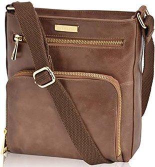 ESTALON leather crossbody bag | 40plusstyle.com