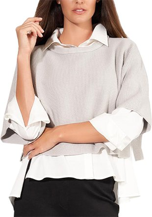 Stella Carakasi Days Like This cropped sweater | 40plusstyle.com