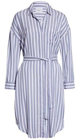 Rails stripe lng sleeve shirtdress | 40plusstyle.com