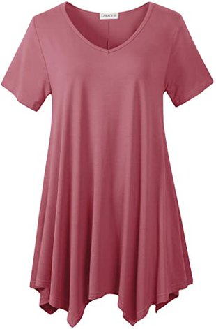 A longer top is good to wear with pants to hide a belly   40plusstyle.com