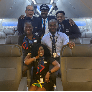 American Airlines makes History with an All-Jamaican Flight Crew