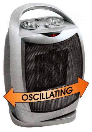 Cheap Personal Oscillating Ceramic Heater